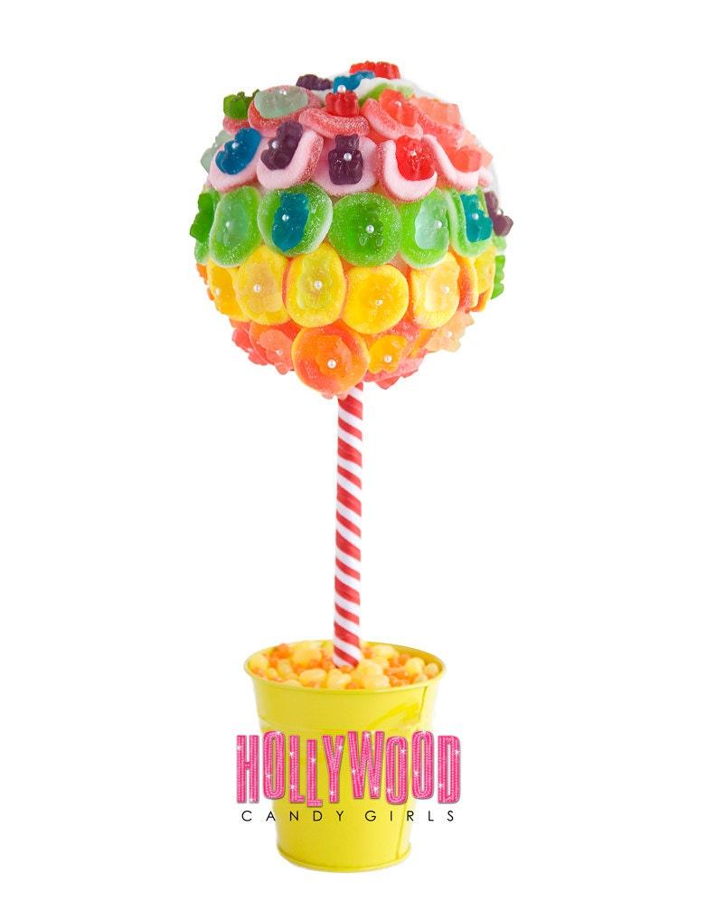 Rainbow Gummy Bear Candy Land Centerpiece By