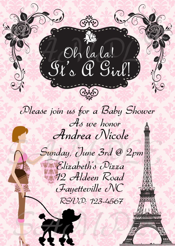 paris baby shower invitation by topacake on etsy