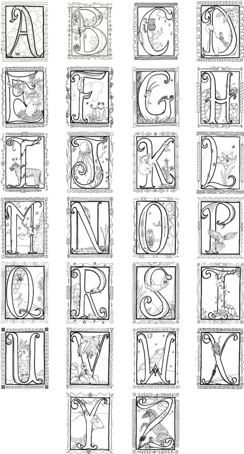 Colouring in alphabet sheets - Colouring In Alphabet Sheets