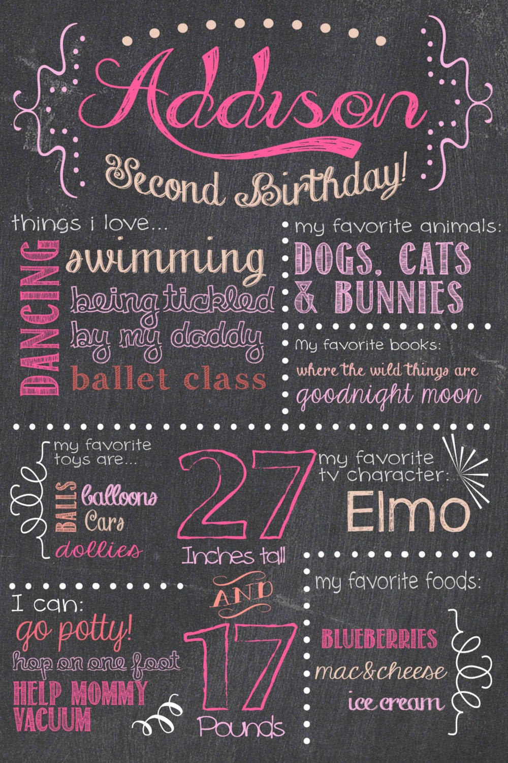 It is a photo of Satisfactory First Birthday Chalkboard Printable