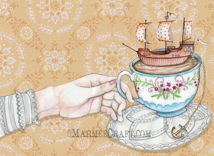 Once Upon a Tea Time, Print