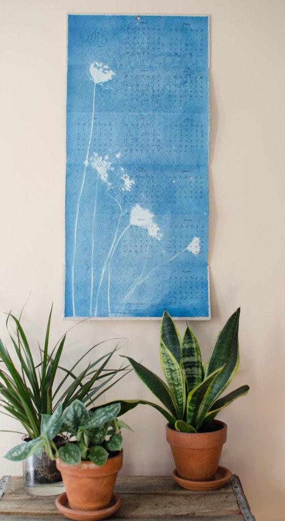 2013 Cyanotype and Letterpress Calendar