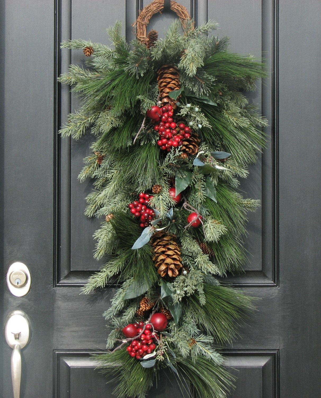 Christmas Wreaths Holiday Decor Wreaths Swags By Twoinspireyou