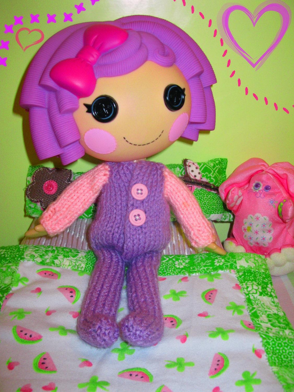 Lalaloopsy Doll Footie Pajamas Knitting Pattern PDF Download