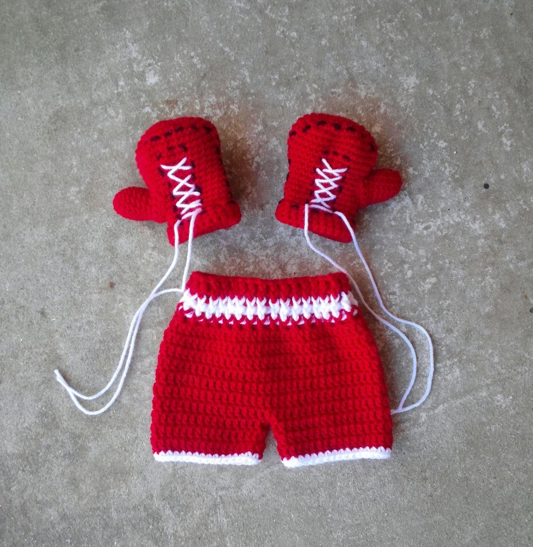 Вязанные боксерские перчатки 133