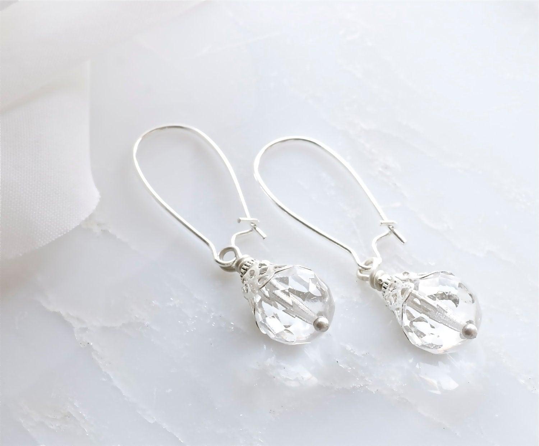 clear glass earrings
