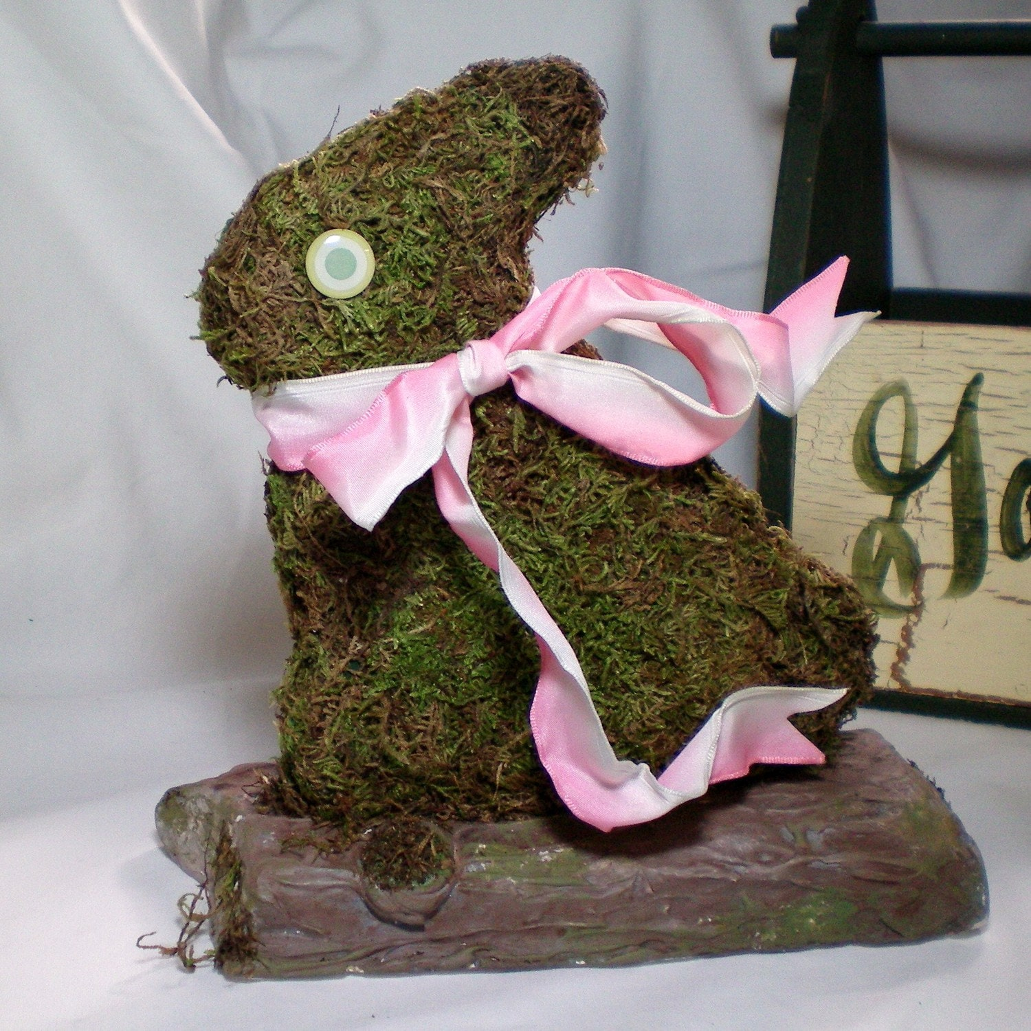 Half Price Sale  Earth Day Moss Bunny Rabbit by CraveCute on Etsy from etsy.com