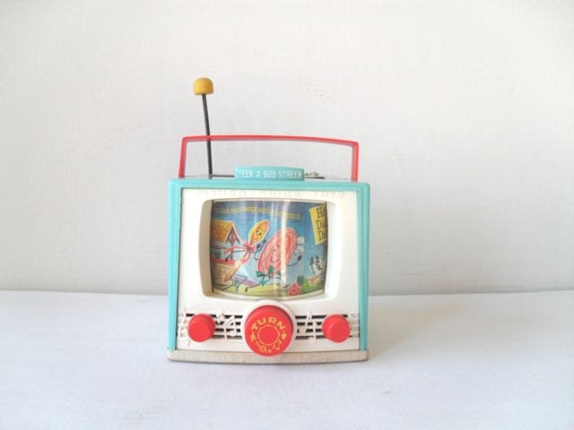 Vintage Fisher Price Toy TV Music Box