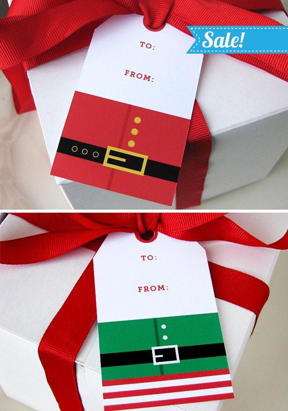 Christmas Gift Tag - Christmas Printable - Santa gift tag - Elf gift ...