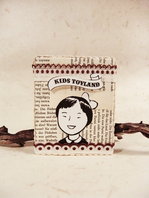 Handmade frame -A Happy Girl from Toyland-