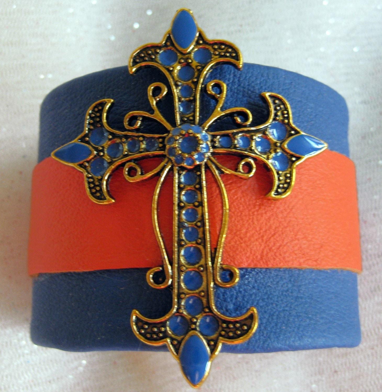 """Leather Bracelet, Cuff Bracelet, Leather Bracelets """"BOISE SPIRIT"""""""