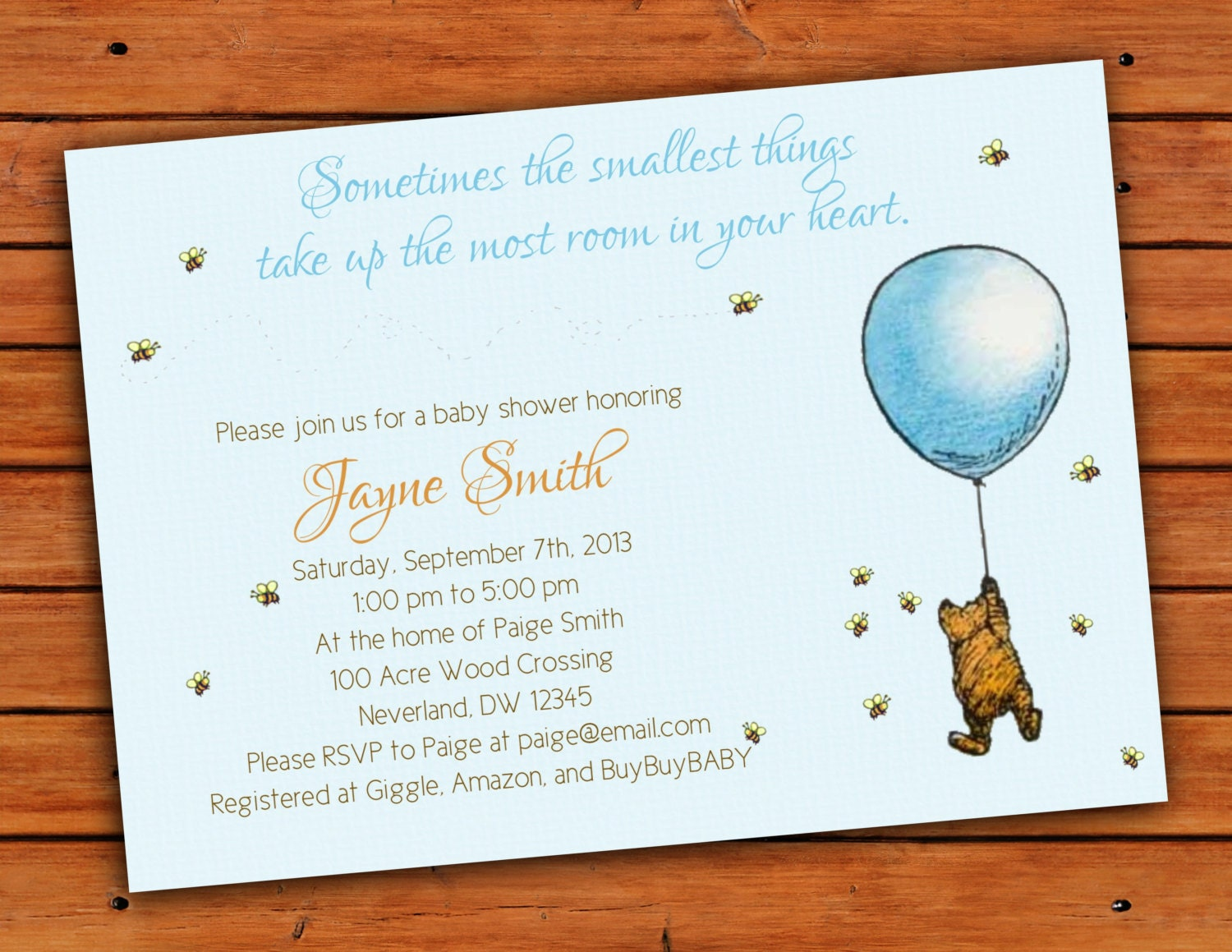 classic winnie the pooh blue baby boy shower by pdotprintables