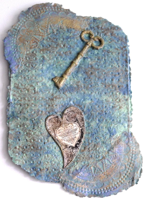 Christmas Art, Baptism Gift, Heart art, Paper Art, Scripture Art, Abstract Art, Skeleton Key, Christian Decor  ~ personalized gift  ~ - ThresholdPaperArt