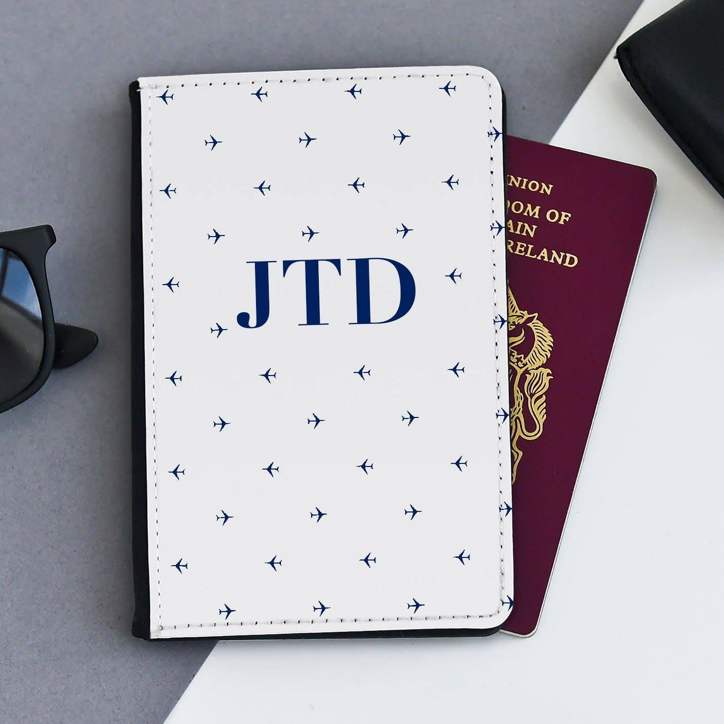 Passport Holder   Personalized Passport Cover   Passport Cover  Custom passport holder  Marble passport wallet Navy Passport Holder