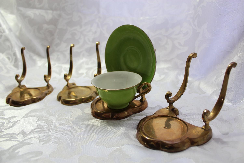 Brass Tea Cup Display Holders By Losttreasures2u On Etsy