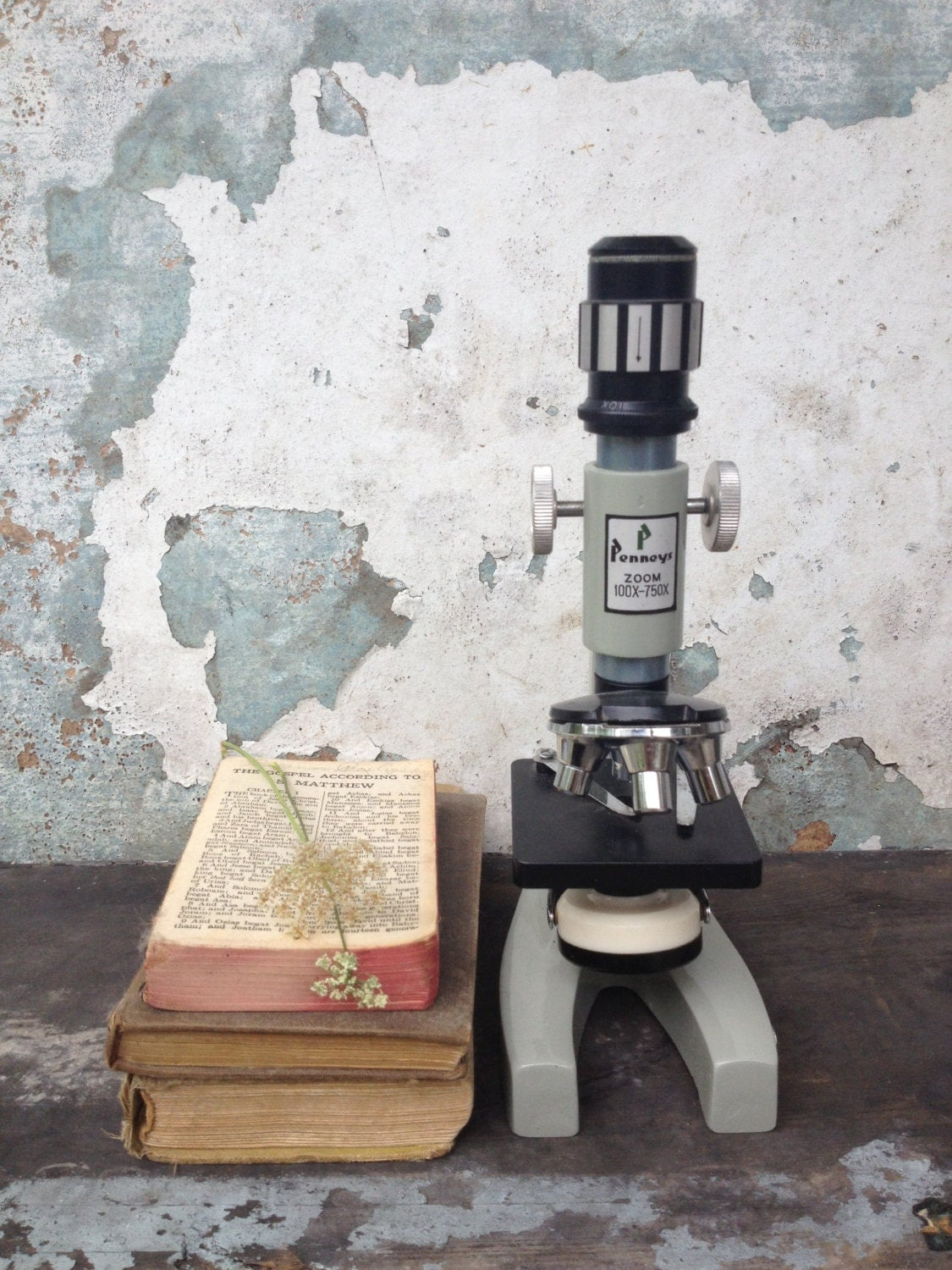 Vintage Microscope/Penney's/750/x/Scientific Decor/Industrial Decor - MarchHareMade