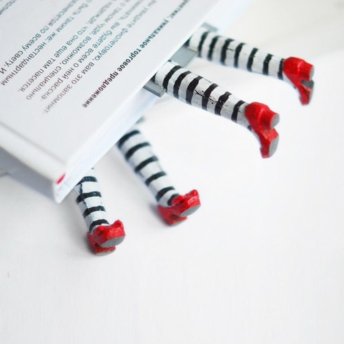 Set of two bookmarks. Wicked witch in the book inspired by Wizard of OZ . Funny  children gift .oht summer