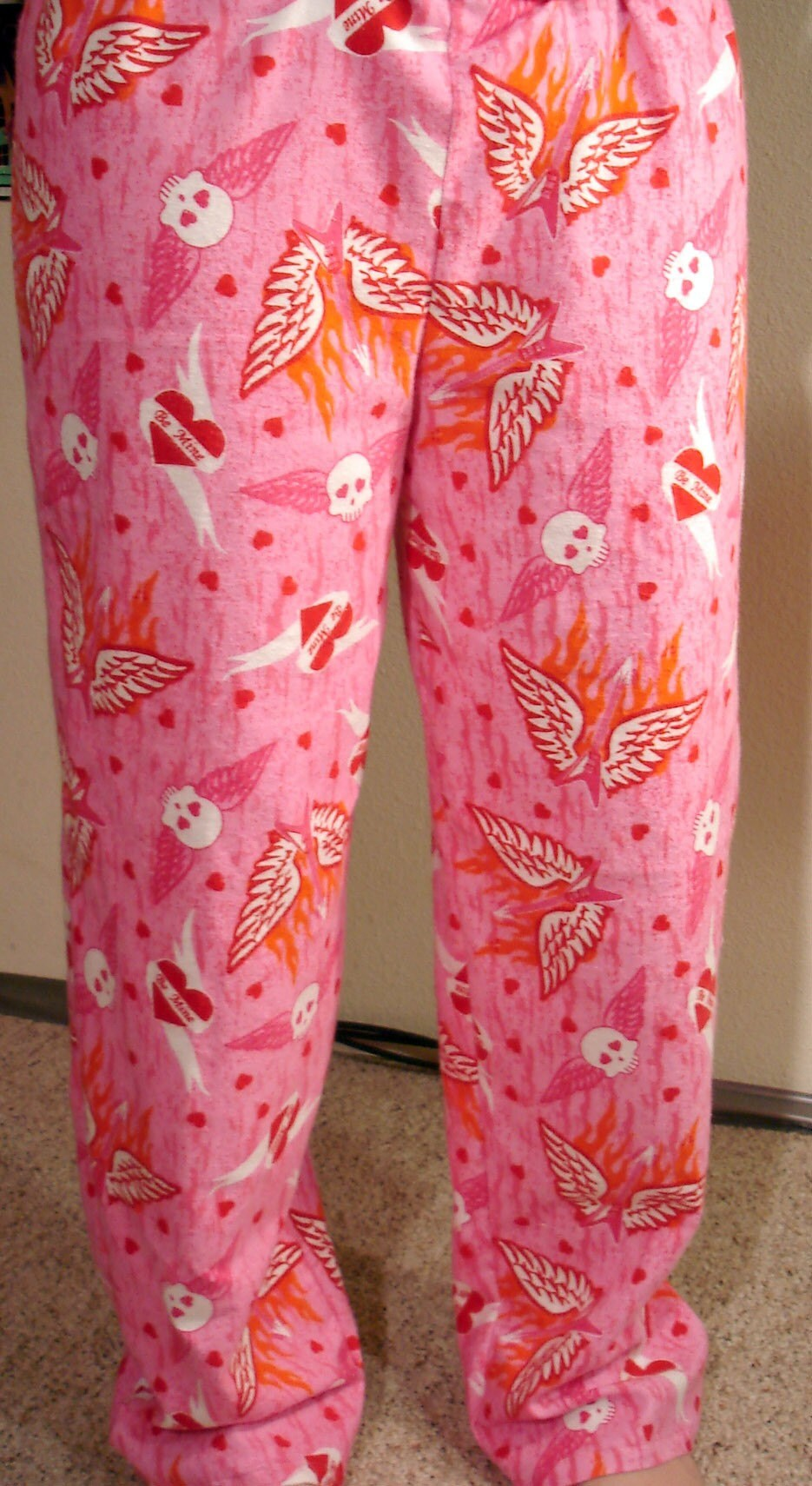Pink skull lounge pants