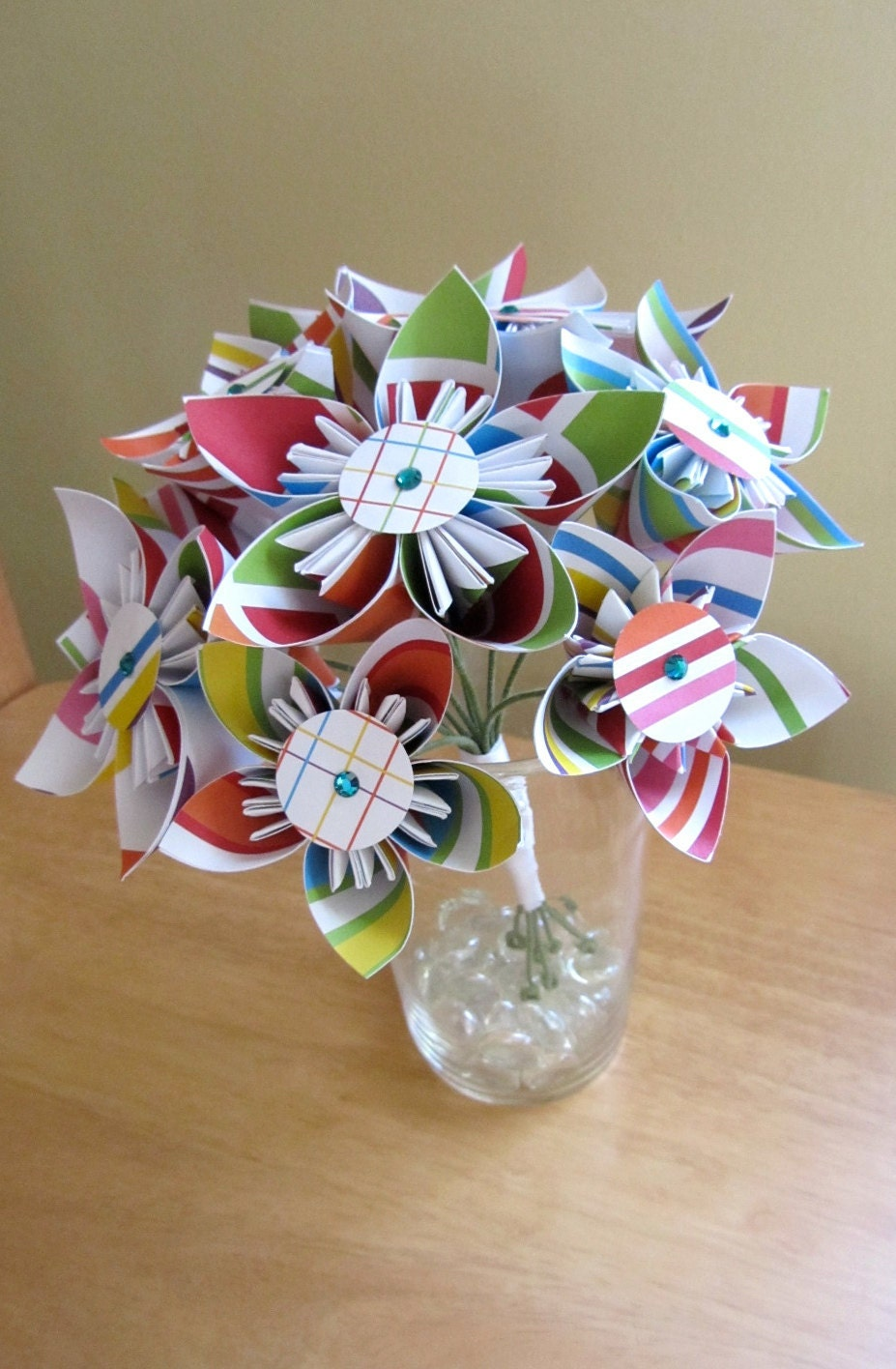 Custom OOAK Rainbow Origami Bouquet