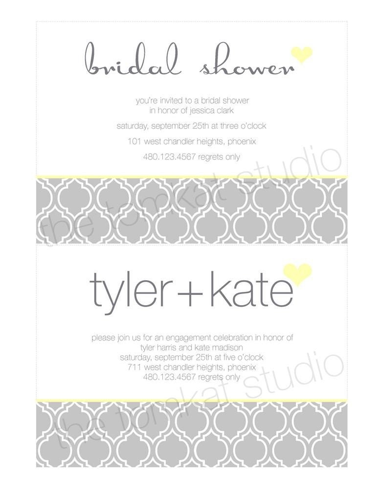 PRINTABLE Invitation Designs - Yellow & Gray Party Collection - The TomKat Studio