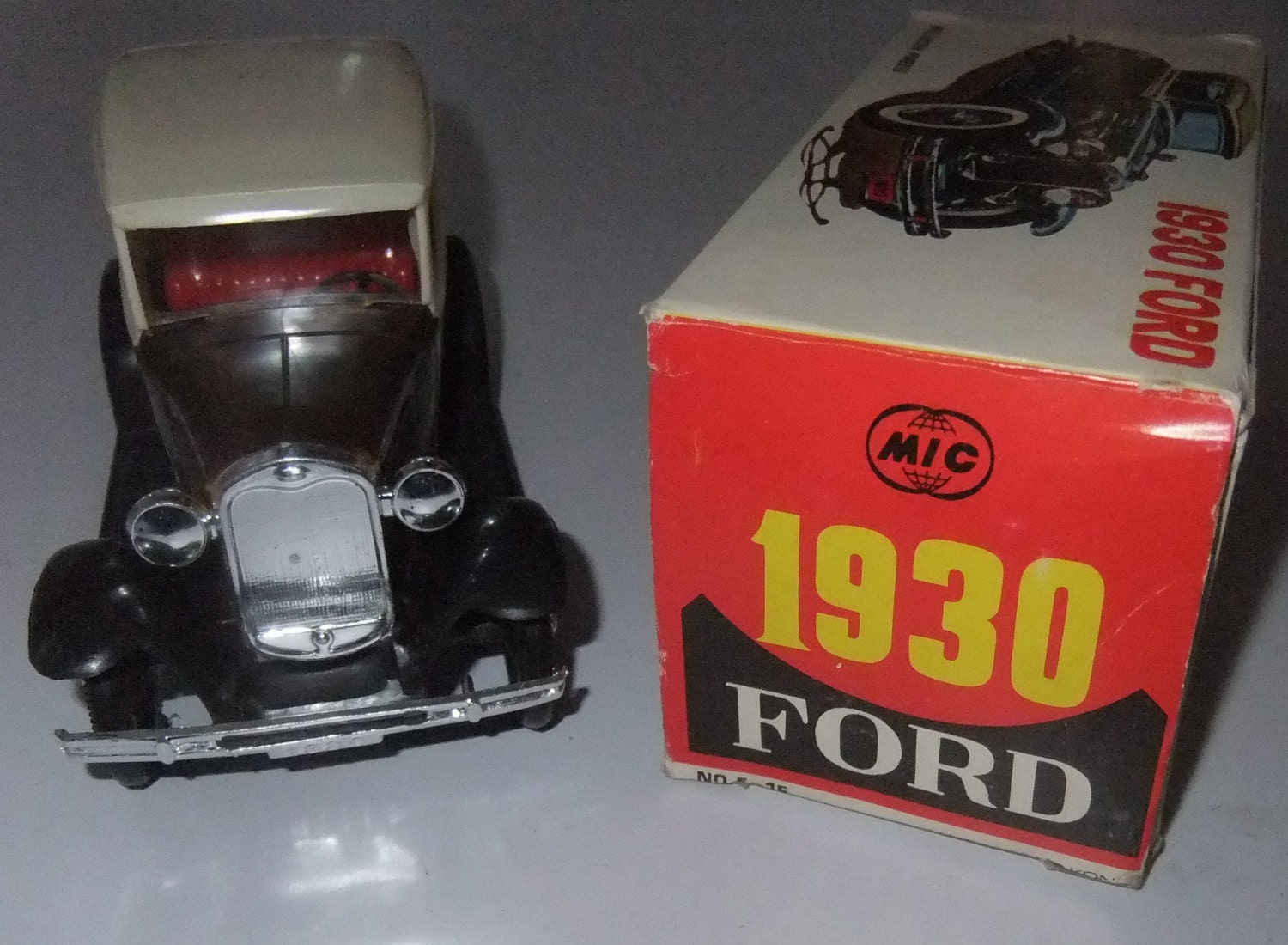 1930 Ford friction powered classic toy car by MIC boxed made in Hong Kong
