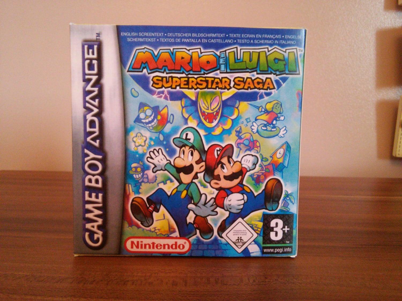 Gameboy Advance Mario  Luigi Superstar Saga  Pal Repro Box and Insert NO GAME INCLUDED