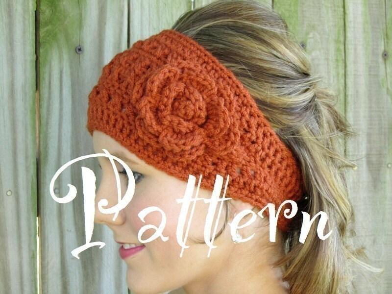 Knitted Head Wrap Pattern Free : CROCHET FLOWER HEADWRAP - Crochet   Learn How to Crochet