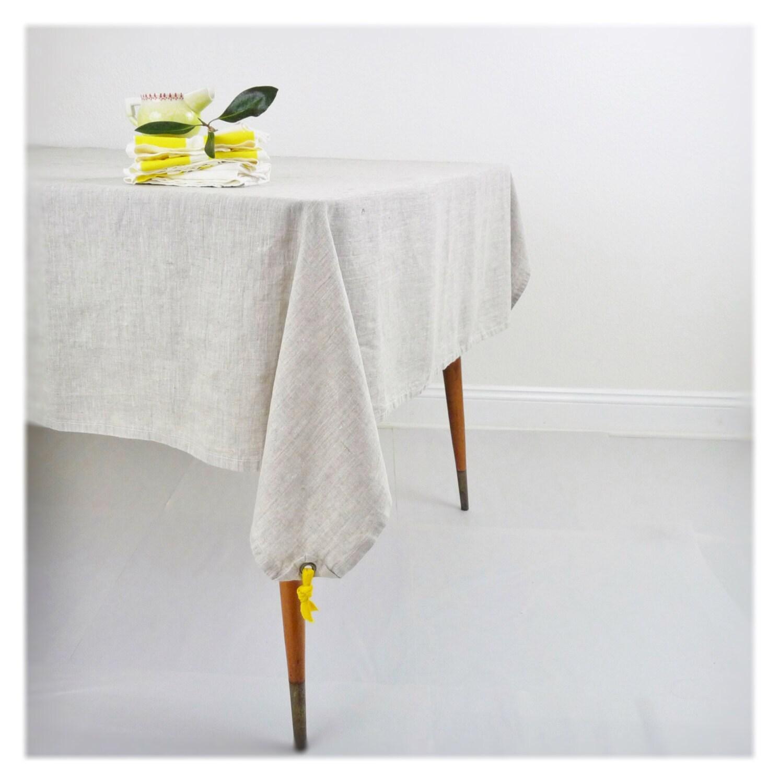 Tablecloth - WASHED Linen  - ecofriendly - solid oatmeal linen - Celina Mancurti - CelinaMancurti