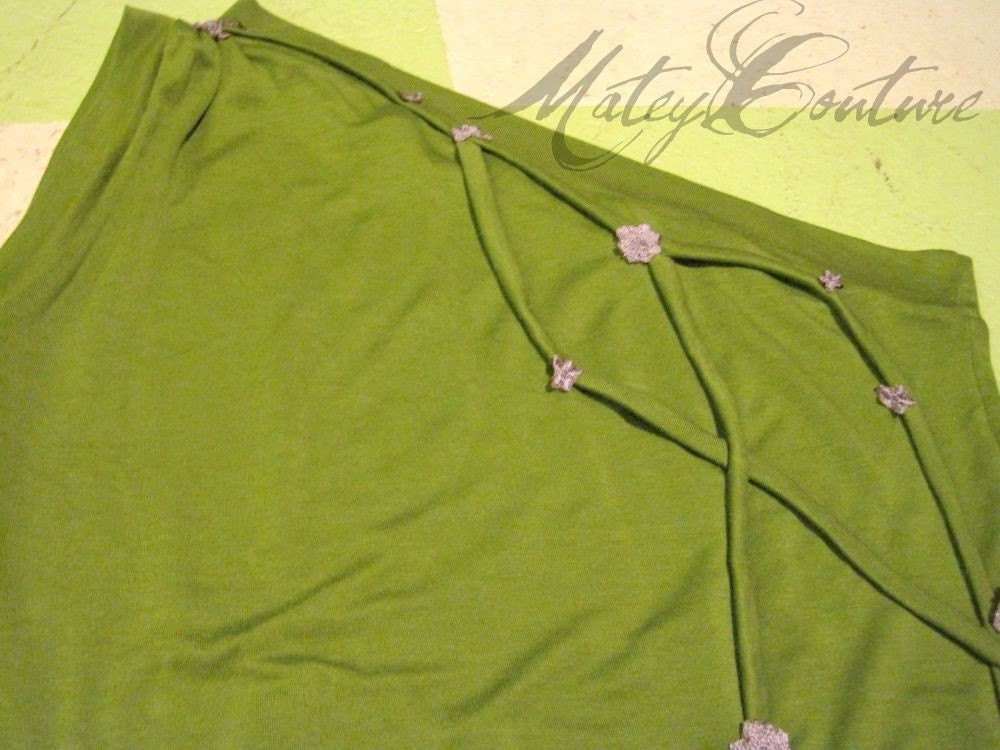 Blossoms and Vines // One Shoulder Top // Womens Medium