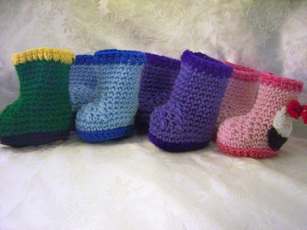 Free Pattern Crocheted Baby Booties: Crochet a Pair for Little