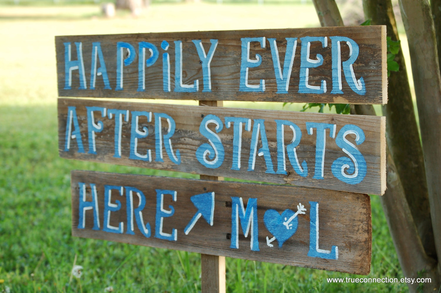 Rustic Wedding Signs LARGE FONT Any Color By TRUECONNECTION
