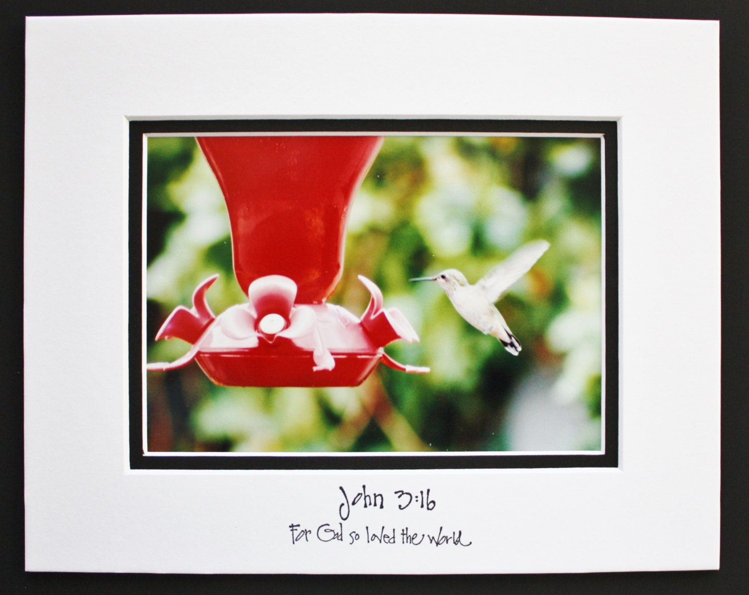 hummingbird inspirational quote matted by justforjoycreations