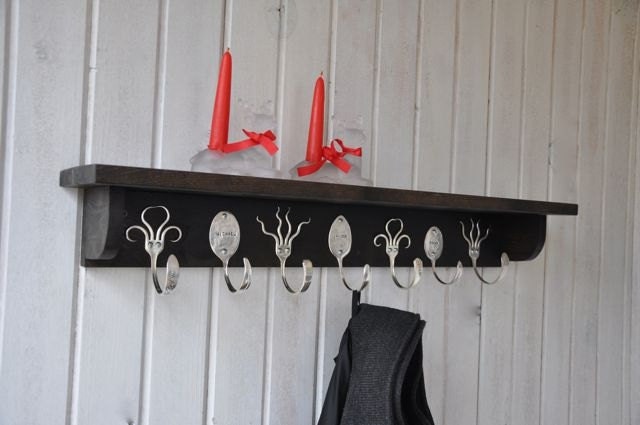 3 personalized spoon hooks and 4 funky fork hooks by jjevensen