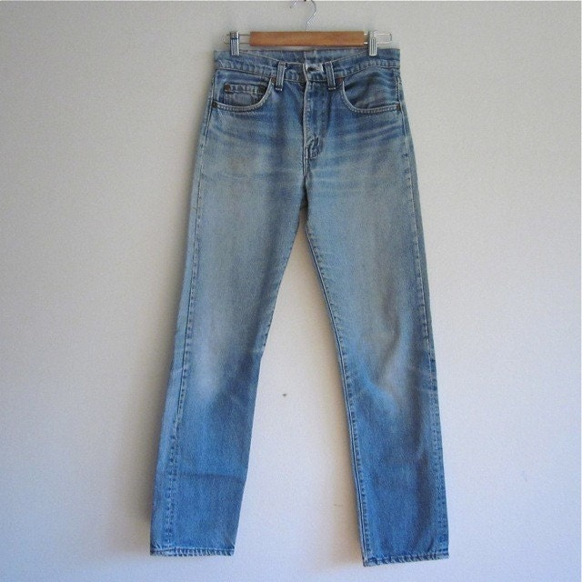 Vintage LEVIS 505 Straight Leg Faded Blue JEANS