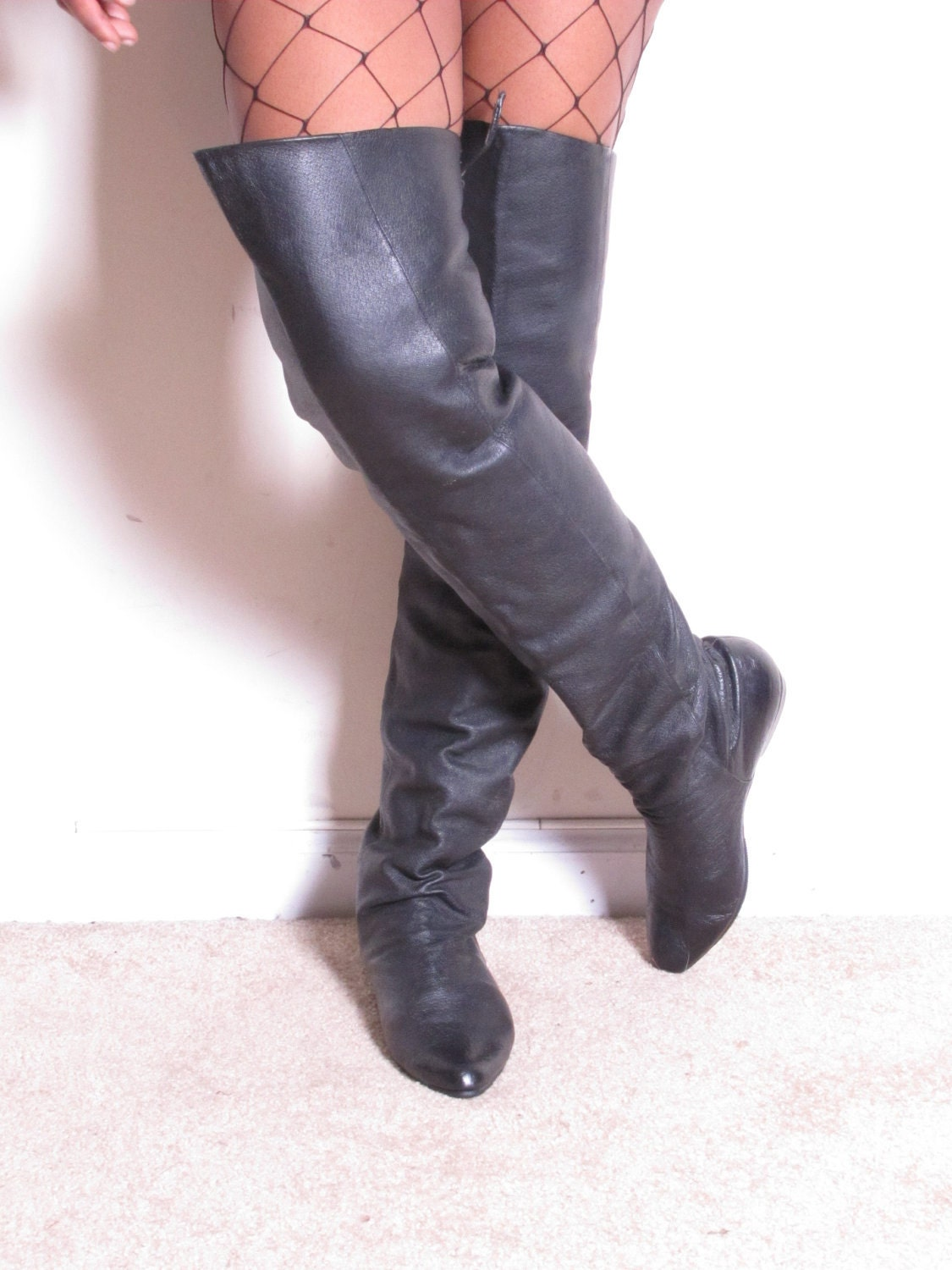 vintage 80s pirate slouch 25 thigh high the by