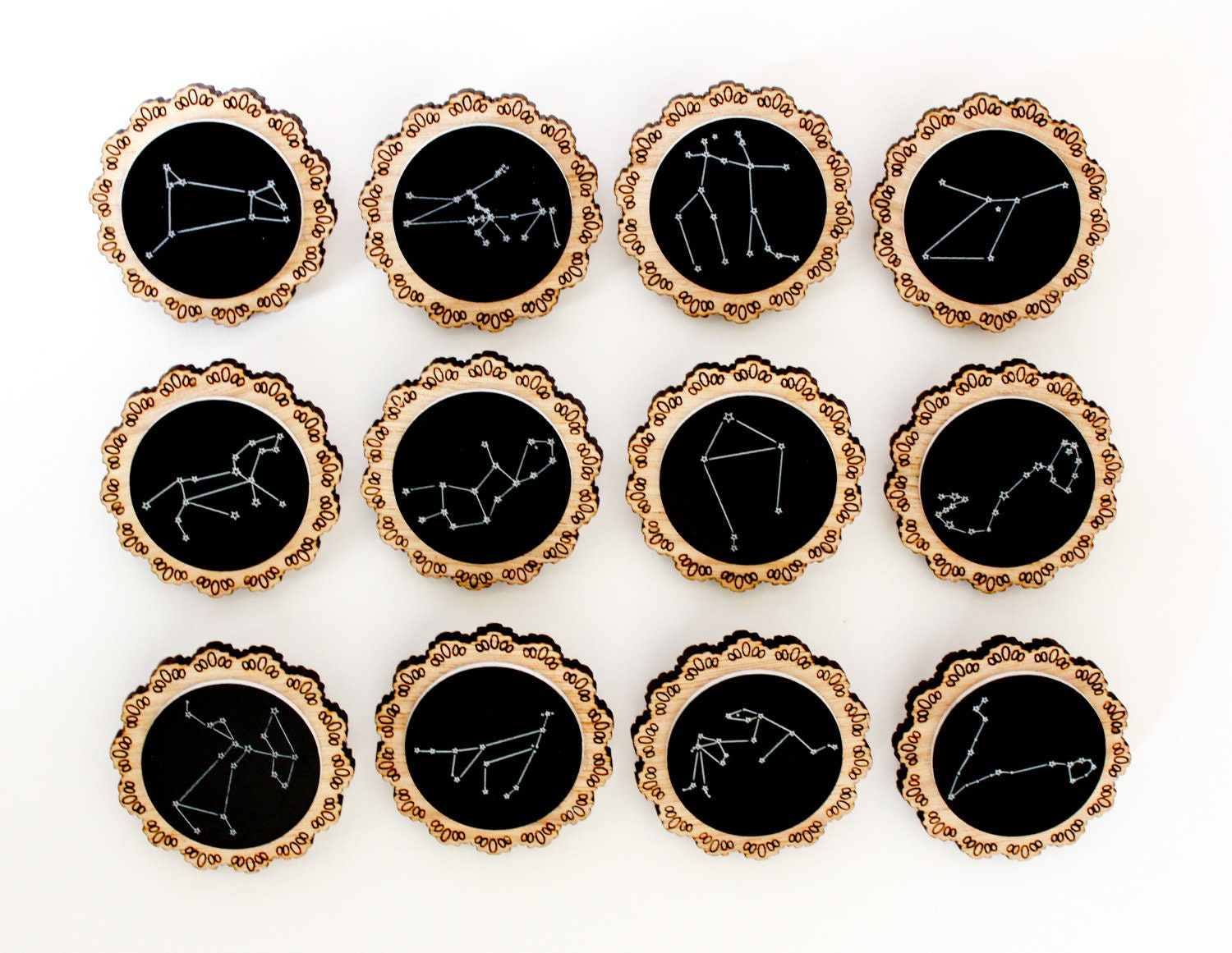 constellation brooches