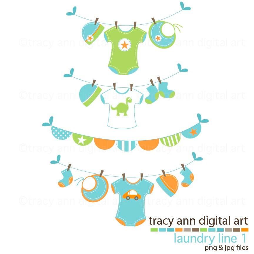 baby boy clip art baby boy washing line by tracyanndigitalart