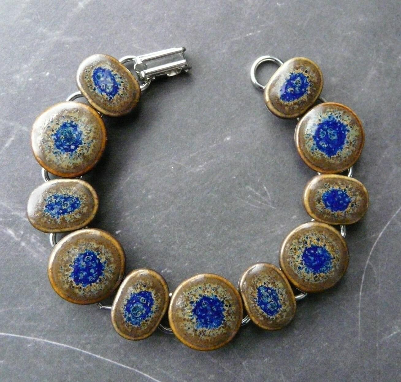 Porcelain Bracelet - Warm Cobalt