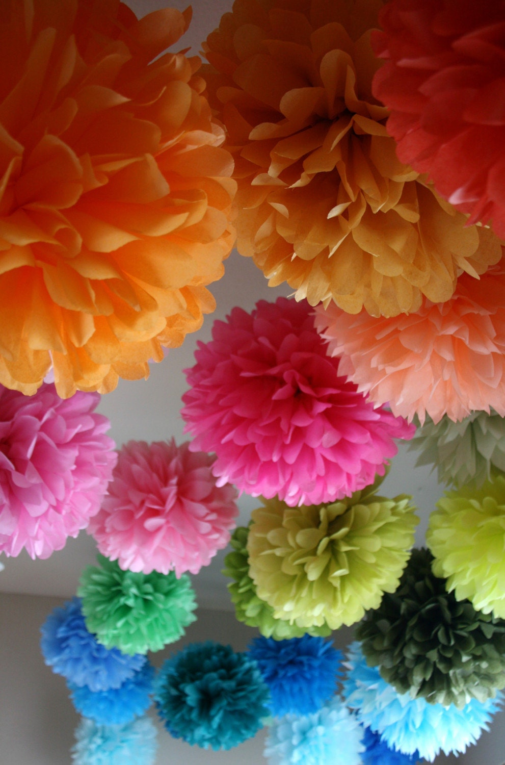 40 Party Poms.. Free 2 day shipping.. choose your colors