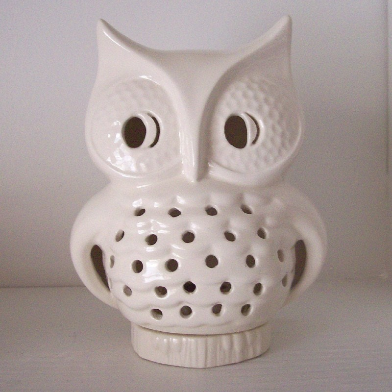 Ceramic Owl Lantern Vintage Design White By Fruitflypie On Etsy ...: http://imgarcade.com/1/ceramic-lantern-designs/