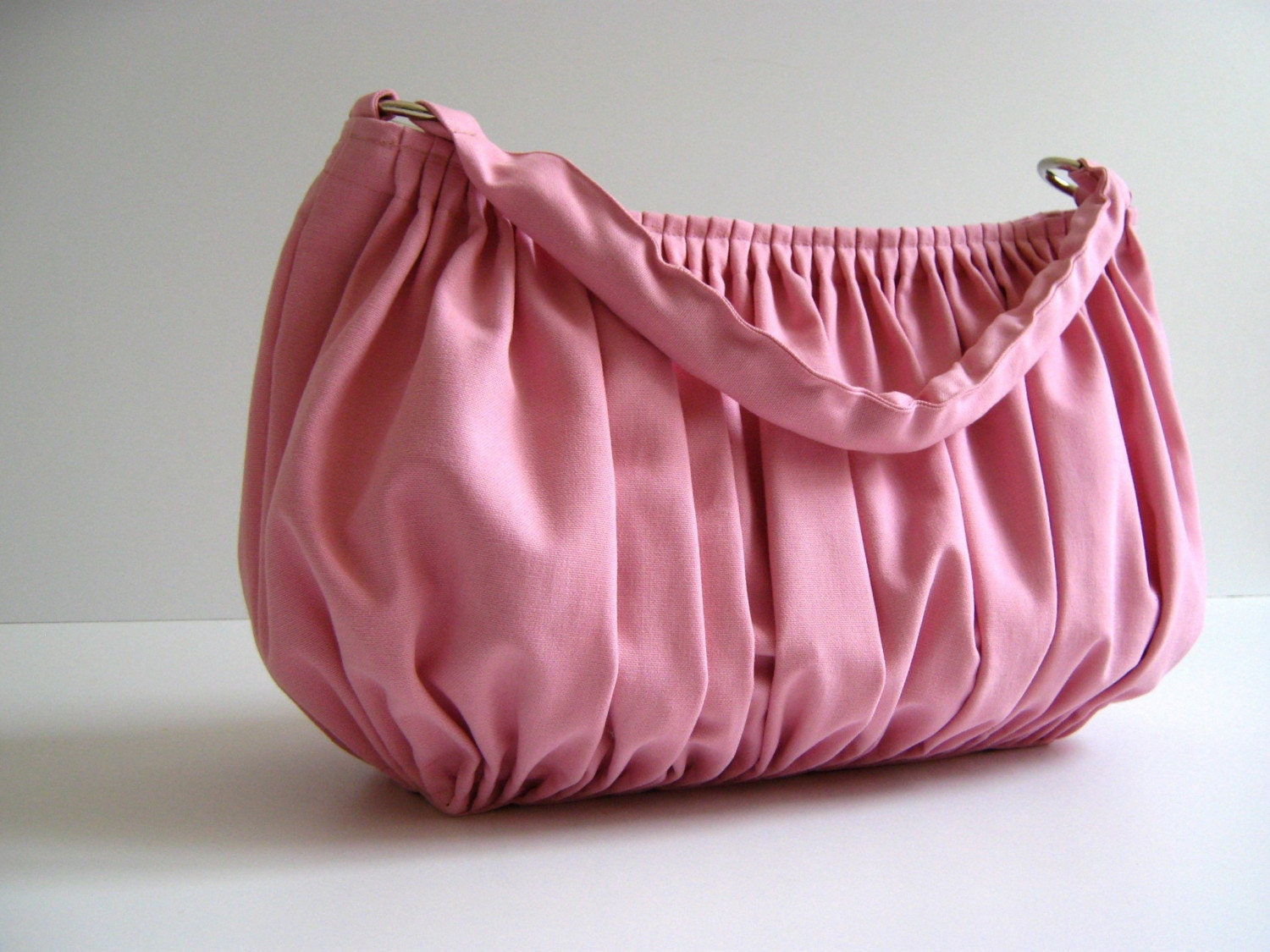 NEW Bella in Bbay Pink --the drapery bag, so chic, large and elegant everyday purse with zippered closure and single strap--
