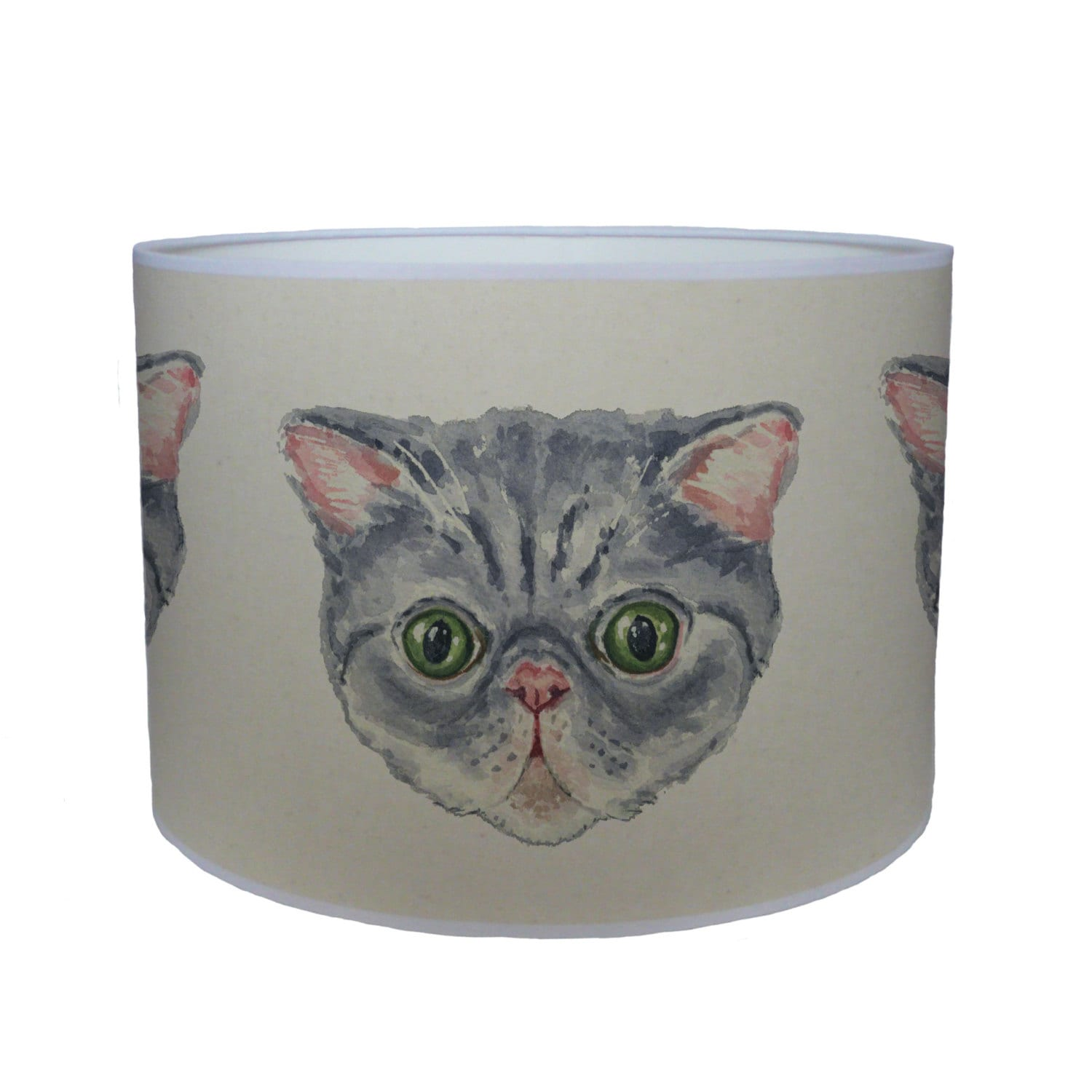 Persian cat shade lamp shade ceiling shade drum lampshade lighting handmade home