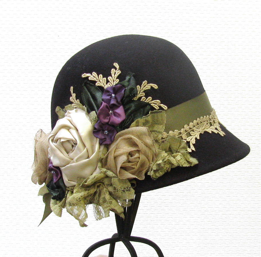 custom order for 1920 s vintage style black by buygail