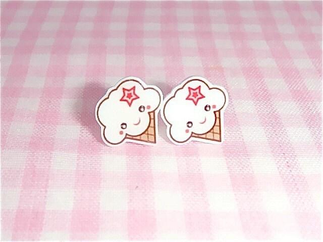 Vanilla ice cream earrings
