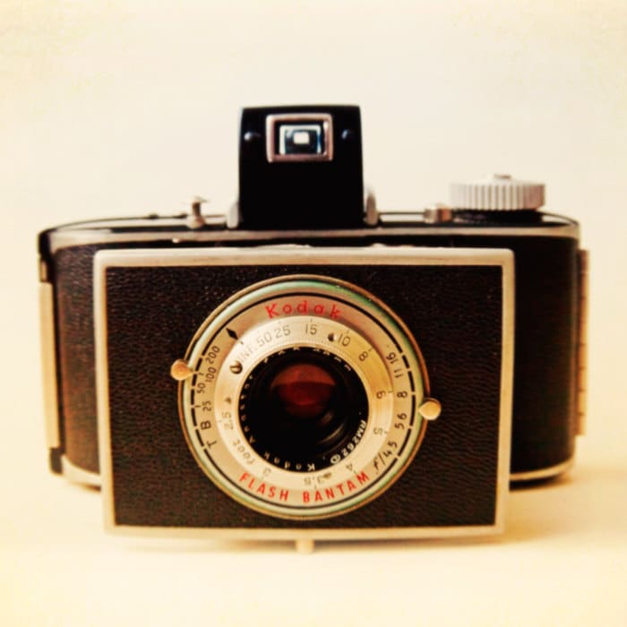 Vintage camera print old camera photo home decor collectible art for photographer camera geekery gearhead - Bantam 5x5