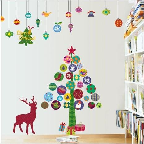 Украсить стены к новому году