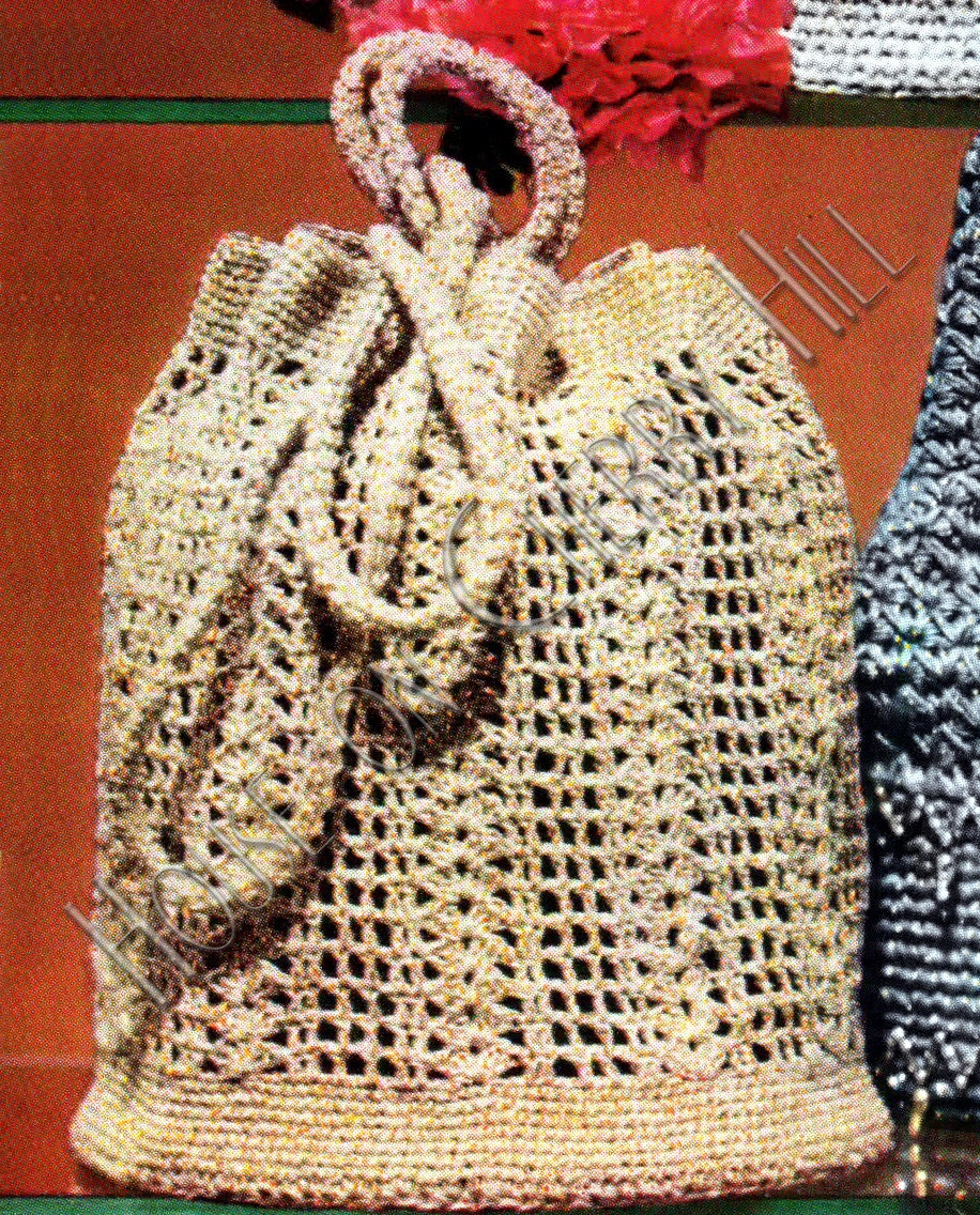 Crochet Net Bag Pattern : Crochet Net Tote Pattern, Reusable tote pattern, INSTANT DOWNLOAD, PDF ...