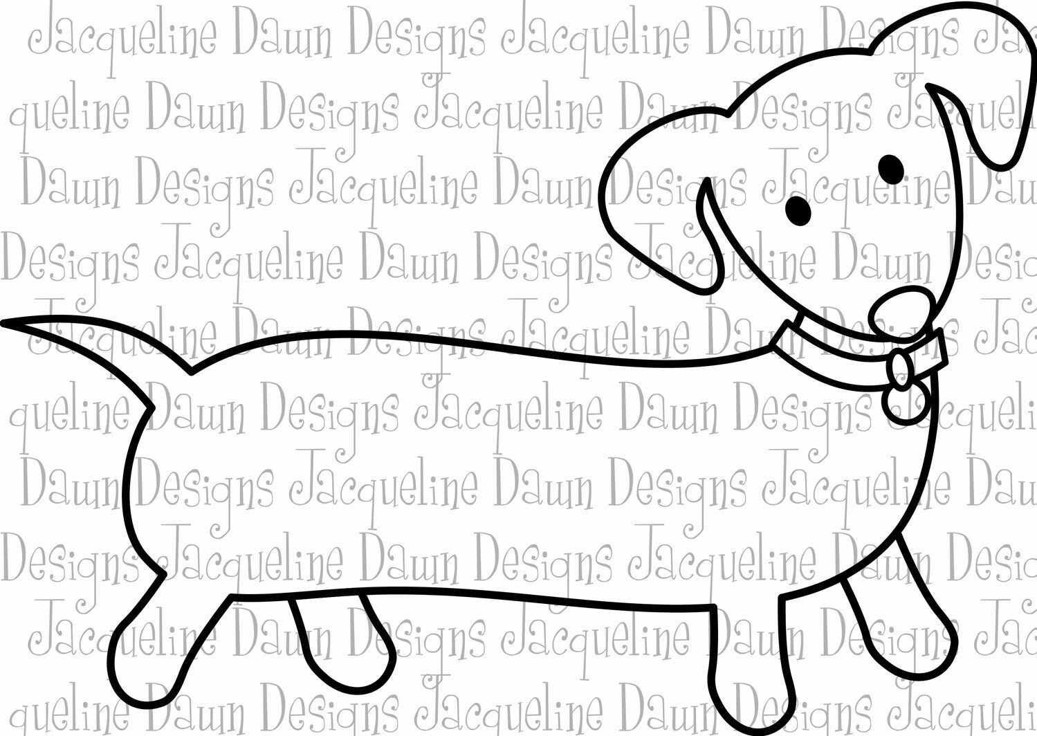 weenie dogs coloring pages - photo#31