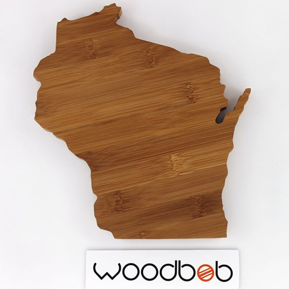 12 wisconsin bamboo state shaped cutting board by by woodbob. Black Bedroom Furniture Sets. Home Design Ideas