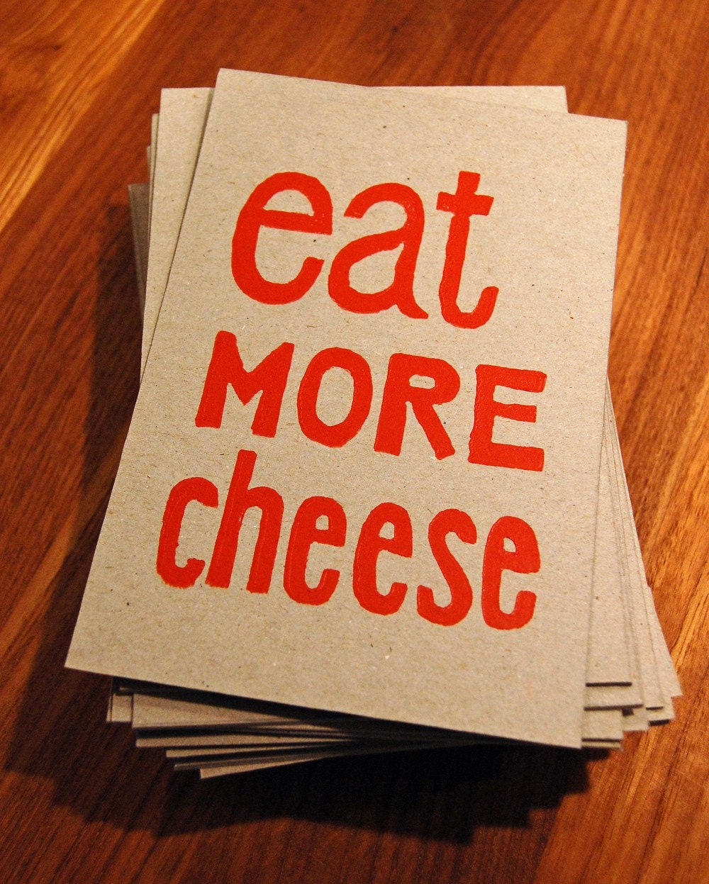 Eat More Cheese print by funnelcloud
